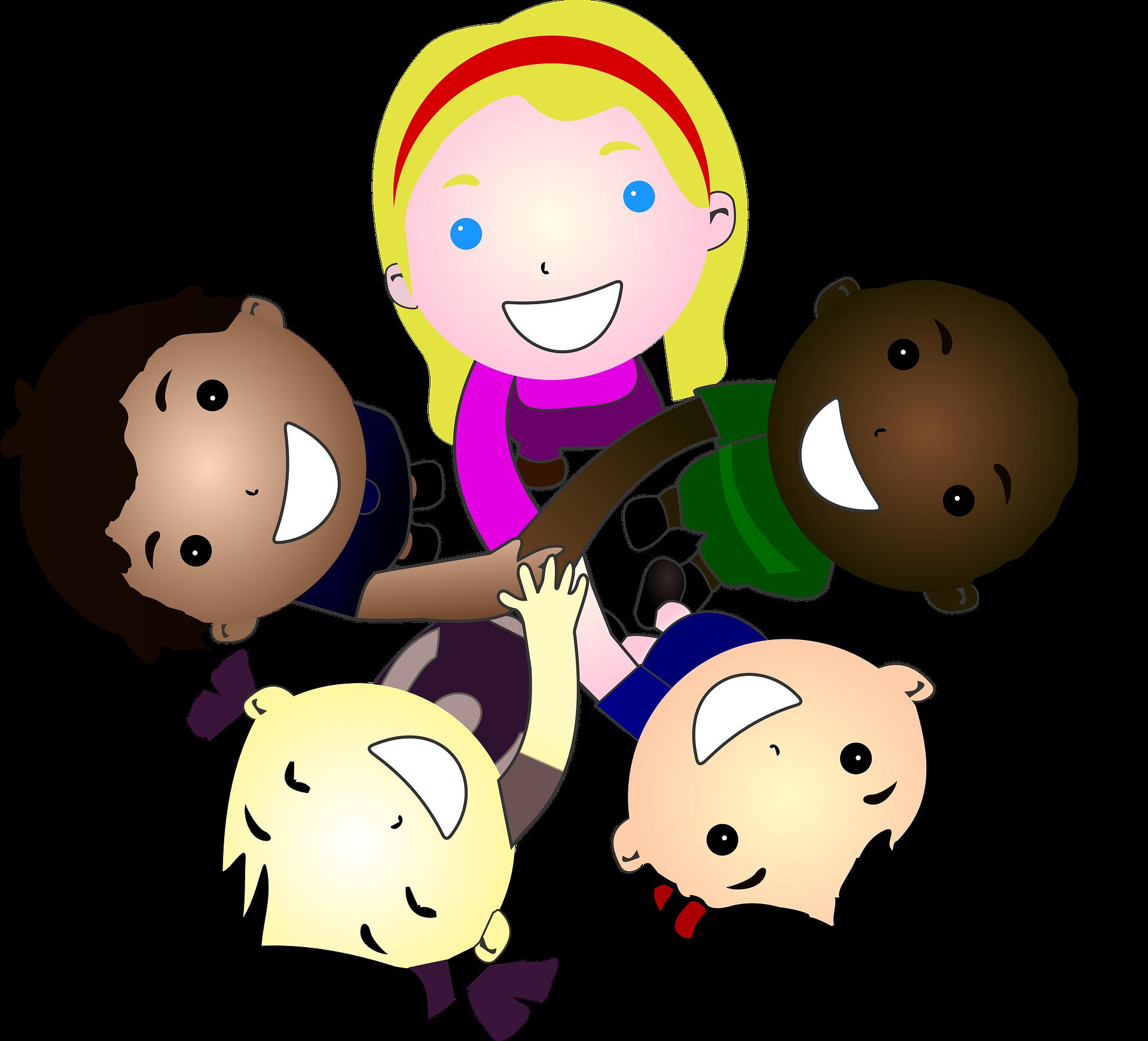 Multikulturelle Kindergruppe